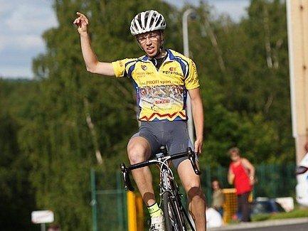 V osmém díle cyklistické kriterijní Giant ligy byl nejlepší Václav Viktorín (na snímku)