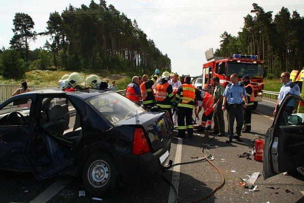 Nehoda na křižovatce obchvatu Třemošné