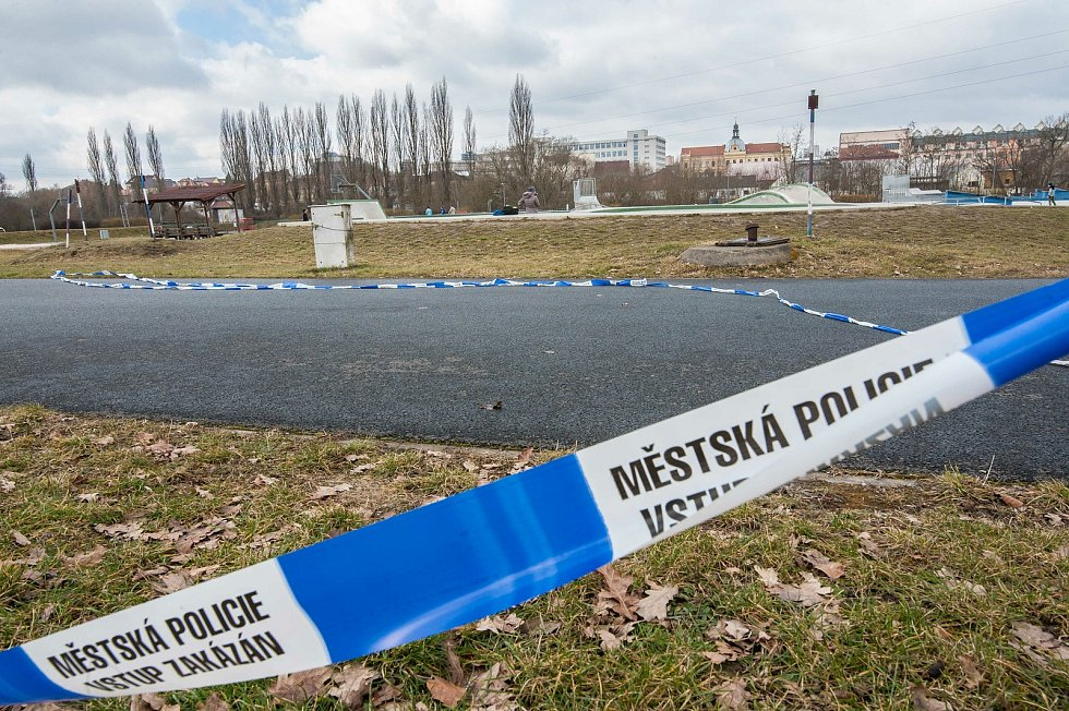 Plzeň, Doudlevce, Škoda sport park uzavřen.
