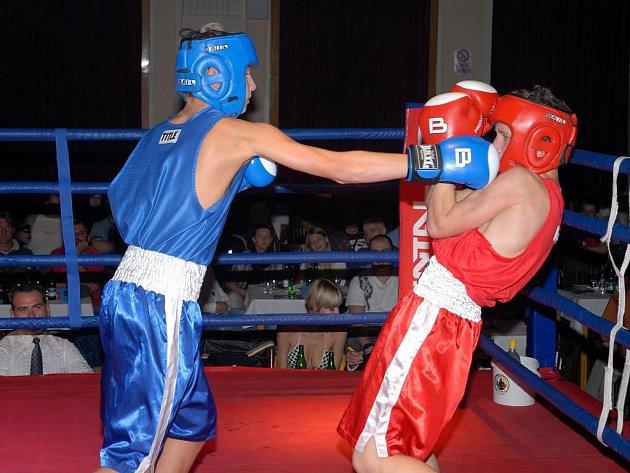 Ve čtyřech amatérských zápasech se na Boxing show 3 představili borci z BC Star Plzeň (v modrém)
