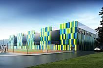 Takhle má vypadat nová Městská sportovní hala, která vyroste na Slovanech v Úslavské ulici.