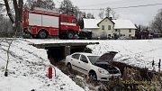 Dopravní nehoda v Dubci na Tachovsku.