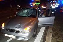 V Gerské ulici srazilo auto chodce, ětadvacetiletý muž skončil v nemocnici