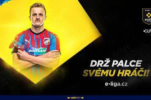 Záložník Jan Kopic bude zastupovat plzeňskou Viktorii v zajímavém esportovém projektu.