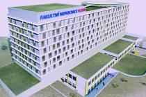 Vizualizace nového chirurgického pavilonu FN Plzeň