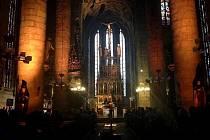 Katedrála svatého Bartoloměje v Plzni.