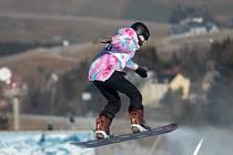 Dcera modelky Verešové zářila na dětské olympiádě na Klínovci.