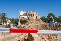 Bourání domů na Domažlické v Plzni