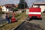 Čerpací stanoviště hasičů v Horním Hradišti