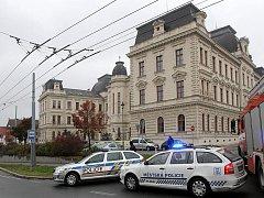 Budova okresního soudu Plzeň-město byla evakuována letos již několikrát