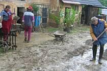 Následky deště v Kozojedech