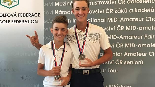 Jakub Janda (vlevo) a Dan Hlaváček se stali v Liberci mistry ČR ve svých věkových kategoriích.