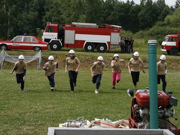 Želčanští mladí hasiči v akci