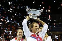 Tenistka Barbora Strýcová se stala hrdinkou finále Fed Cupu proti Francii a završila tak skvělý rok.