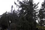 U Pňovan likvidovali hasiči strom na trati.