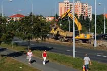 Rekonstrukce tramvajové trati na Gerské třídě ode dneška zkomplikuje dopravu na sídliště na Košutce a od Záluží do Plzně