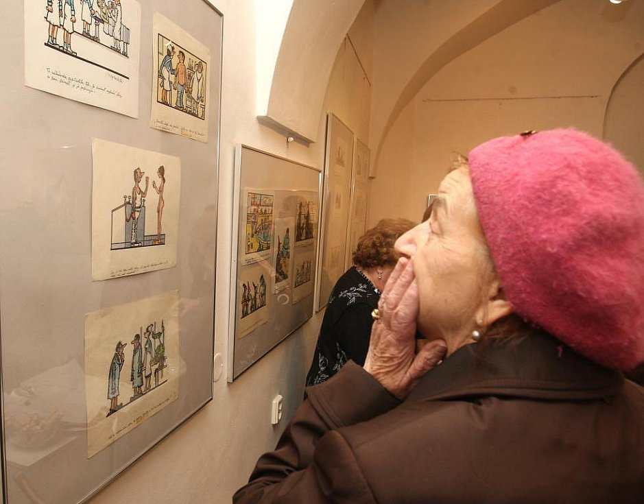 Kresby s vtipnými texty jsou k vidění v plzeňské Galerii Jiřího Trnky. Začala tu totiž výstava klasika českého kresleného humoru, karikatury a ilustrace Jiřího Wintera Neprakty