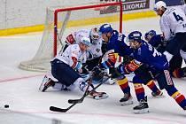 Hokejisté plzeňské Škodovky vyhráli zápas v Českých Budějovicích po prodloužení 4:3.