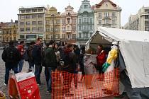 Lékaři bez hranic na náměstí Republiky v Plzni.
