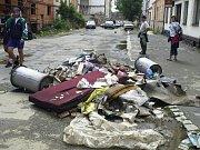 Povodně v Plzni - 14. srpna 2002