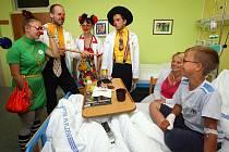 Zdravotní klauni v plzeňské fakultní nemocnici