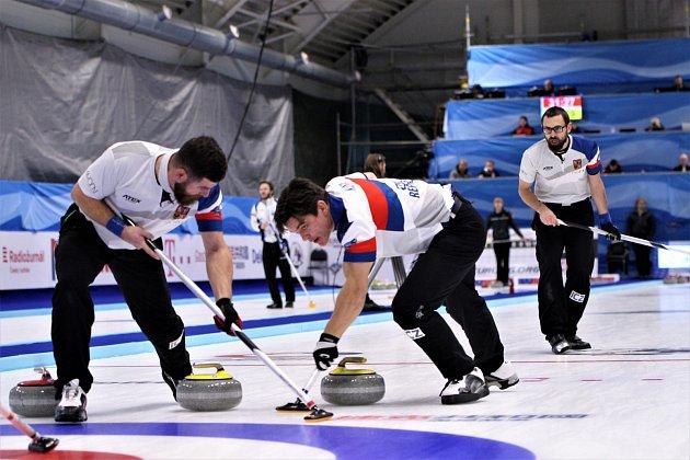 Curling vPlzni. Českým mužům se ve středu nedařilo, když podlehli Dánsku 4:10.