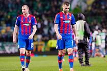 Radim Řezník (vpravo) a Michael Krmenčík po utkání se Sportingem.