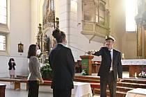 Zahájení školního roku na církevním gymnáziu v Plzni.