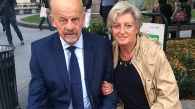Marek Sýkora na snímku s manželkou Zdeňkou.