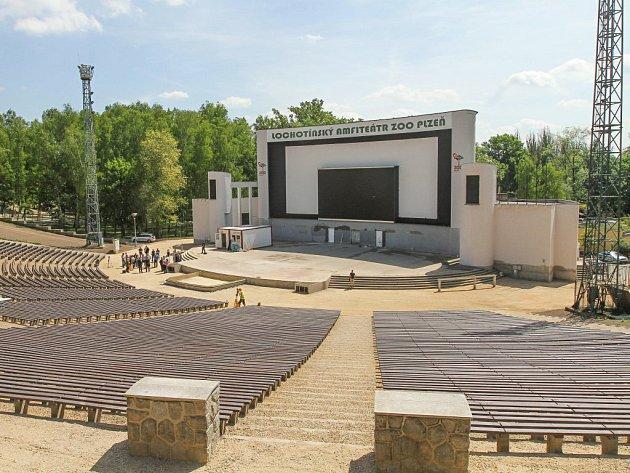 Nová podoba lochotínského amfiteátru.