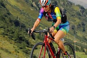 Jindřiška Zemanová na trati Challenge Davos ve Švýcarsku.