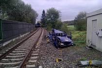 Mezi Blížejovem a Osvračínem se střetl nákladní vlak s osobním automobilem