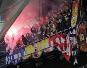 Zápas fotbalové Fortuna ligy mezi Spartou Praha a Plzní na Letné.
