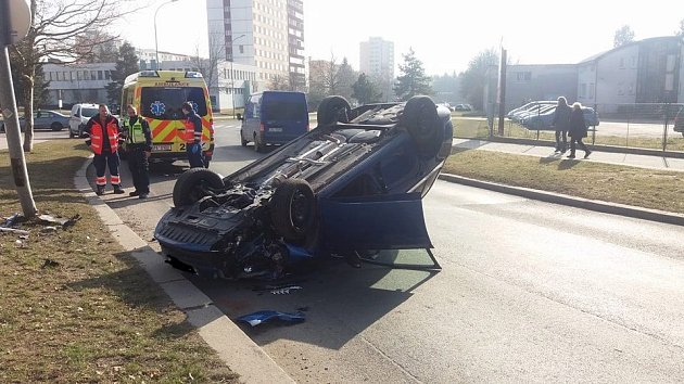 Dopravní nehoda uBorského parku.