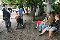 Mladí filmaři v Plzni natáčeli snímek.