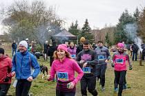 Tříkrálový běh ve Městě Touškově.