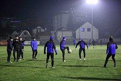 Předzápasový trénink absolvovali fotbalisté Viktorie Plzeň v tréninkovém areálu bělehradského klubu.