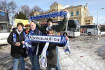 Fanoušci Schalke 04 v Plzni