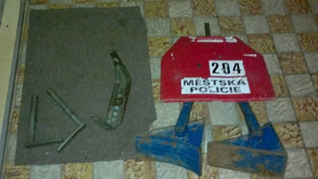 Zničená botička městské policie