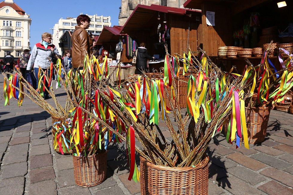 velikonoce pomlázka prodej velikonoční trhy náměstí Republiky František Zavadil