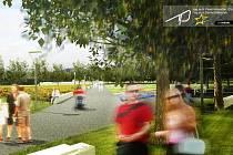 Vizualizace - Inline okruh, sportovní a relaxační areál