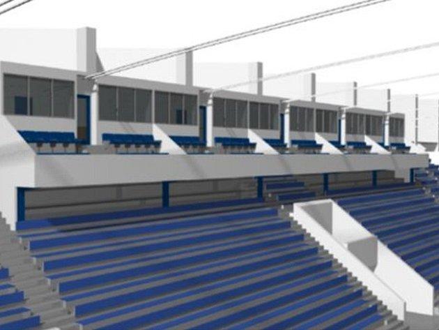 Vizualizace nových VIP prostorů na stadionu