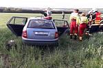 Nehoda kamionu a osobního auta u Všerub.