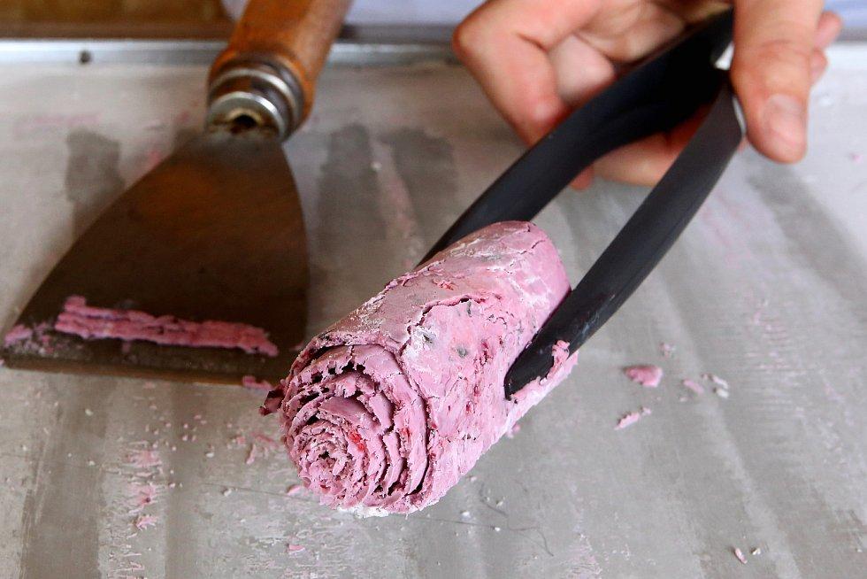 Rolovaná zmrzlina od Martina Žaluda.