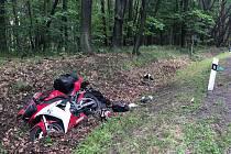 U Plas bourali motorkáři.