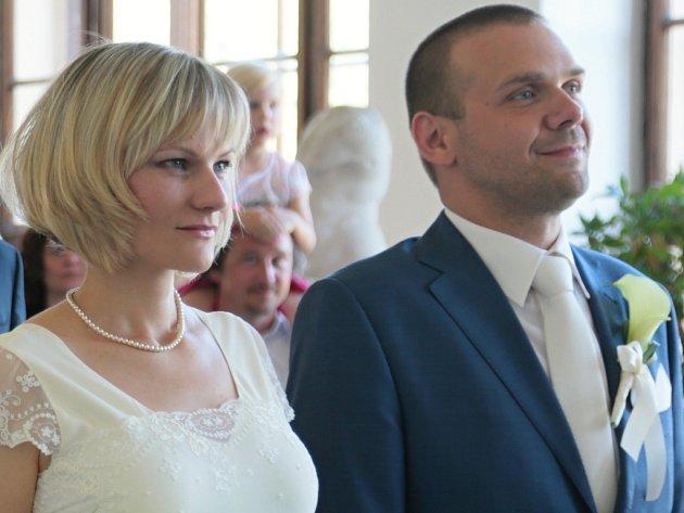 Novomanželé Martin a Simona Baxovi si své ano řekli v sobotu na Moravě
