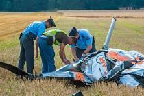 Havárie vrtulníku u Rybnice na severním Plzeňsku
