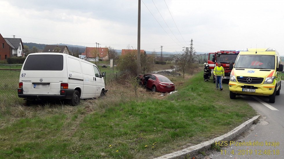 Z místa nehody u Letkova