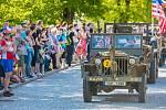 Příjezd konvoje Ride of Freedom na Boleveckou náves