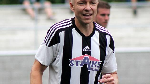 Hrající trenér boleveckého mužstva Michal Bublík.